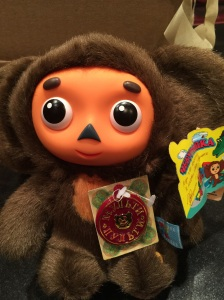 Cheburashka the monkey is an iconic Russian cartoon character for children