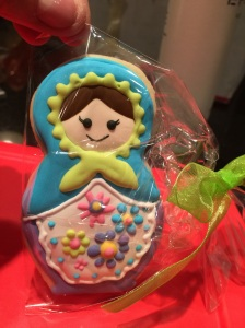 We had matryoshka doll cookies made special for Annabelle's gotcha day celebration!