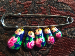 Matryoshka doll pin, a gift for Annabelle's gotcha day